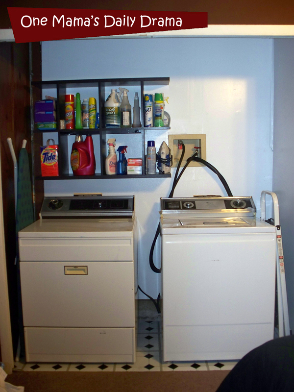 Laundry room makeover on a budget   One Mama's Daily Drama