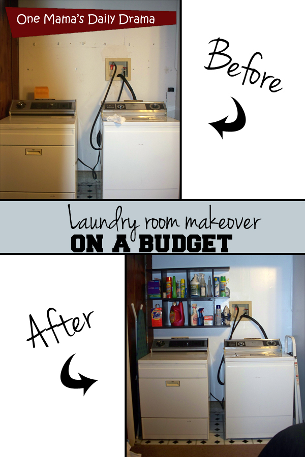 Laundry room makeover on a budget | One Mama's Daily Drama