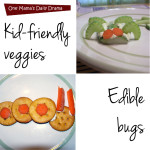 Edible bugs made with veggies