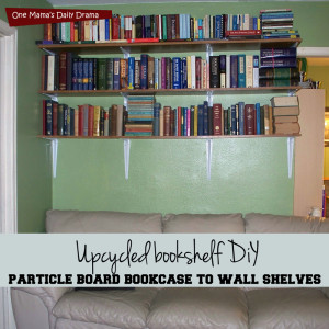 Upcycled bookshelf DiY