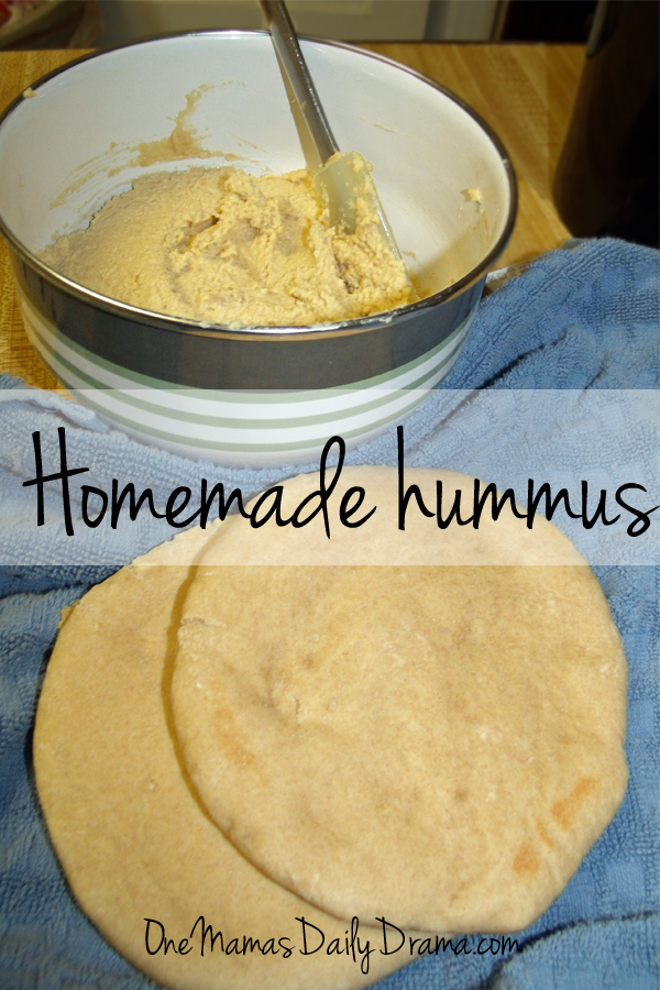 Homemade hummus recipe   One Mama's Daily Drama --- This healthy bean dip recipe makes a great snack or side dish with any meal.
