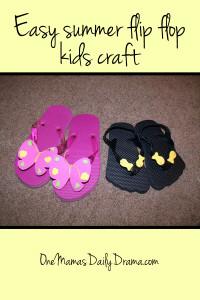 Easy summer flip flop kids craft