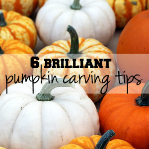 6 brilliant pumpkin carving tips | One Mama's Daily Drama --- Learn how to carve a pumpkin from a Central Market expert. These are fantastic!
