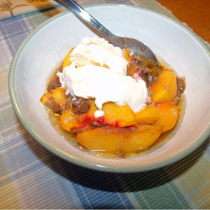 Peach fruit crisp recipe   One Mama's Daily Drama --- Enjoy fresh summer peaches with this easy peach crisp recipe. Can also substitute other fresh fruit, like apples.
