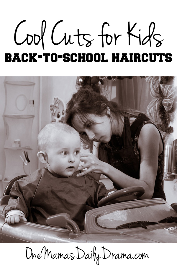 Cool Cuts for Kids back to school haircuts   One Mama's Daily Drama --- Are haircuts on your back to school list?