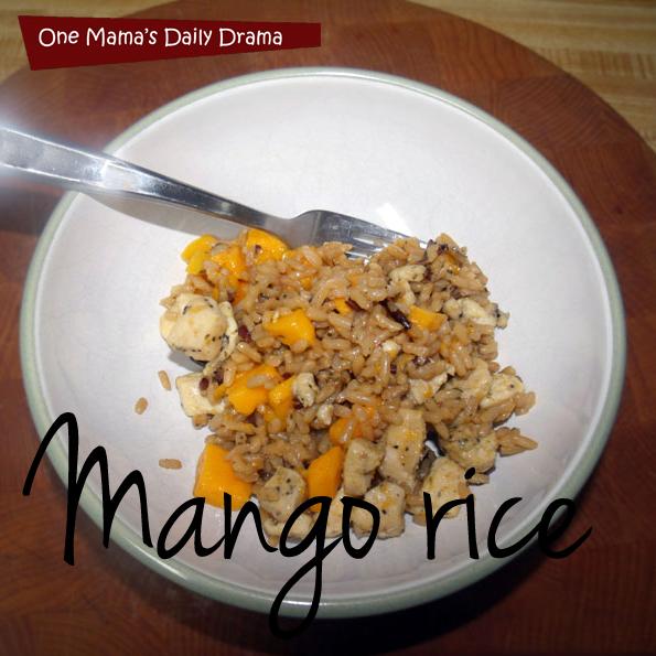 Chicken mango rice recipe   One Mama's Daily Drama