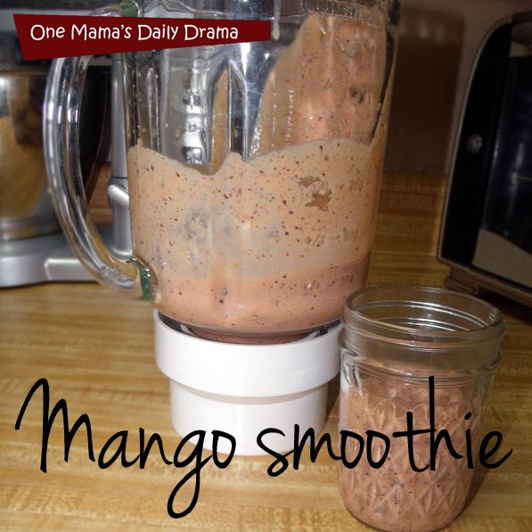 Mango smoothie recipe   One Mama's Daily Drama