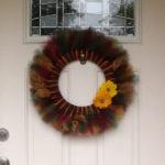Surprisingly easy DiY fall tulle wreath