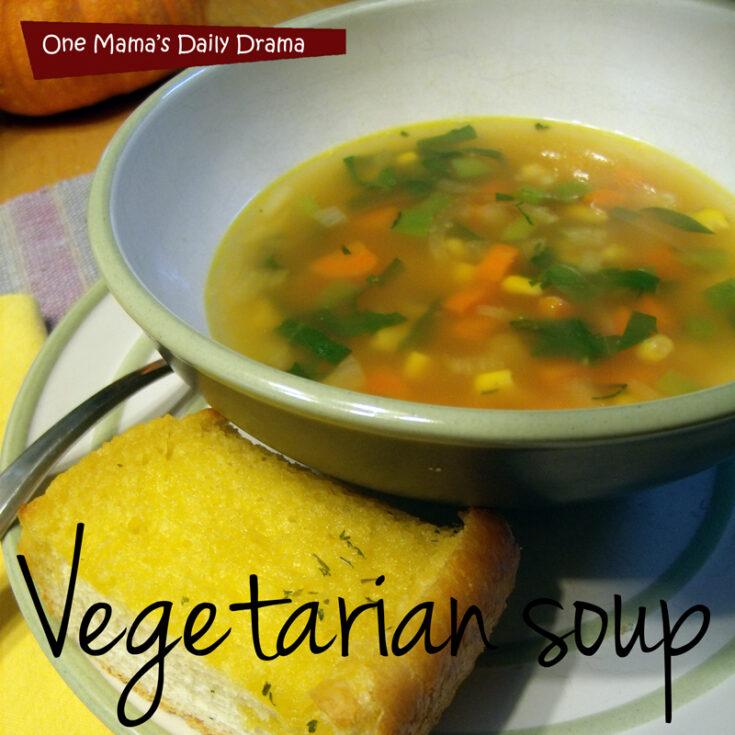 Homemade vegetarian soup