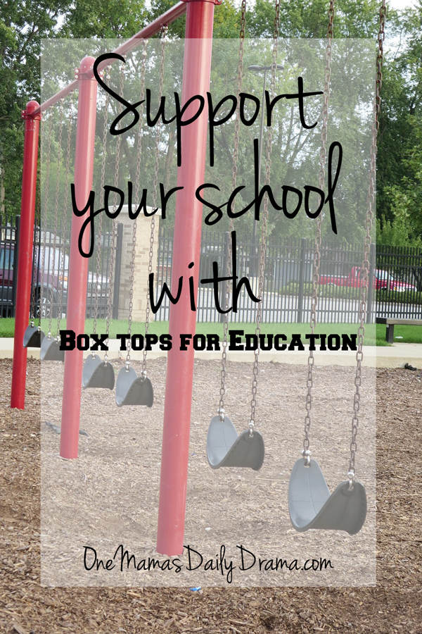 Support your school with Box Tops for Education | One Mama's Daily Drama --- Find out how your regular grocery purchases can mean money for your child's school.
