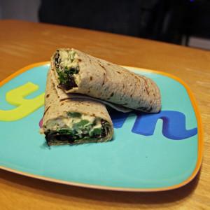 Hummus veggie wraps | from One Mama's Daily Drama