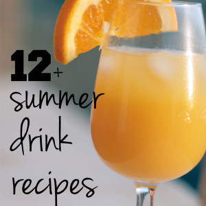 12+ summer drink recipes | One Mama's Daily Drama --- Summer drink recipes for every occasion! Includes smoothies, cocktails, party punch, & more.