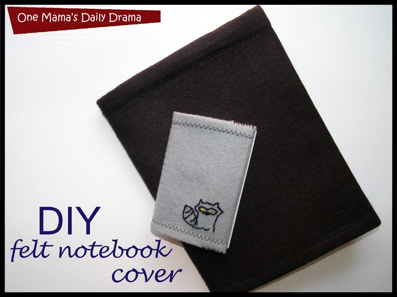 diy felt notebook cover