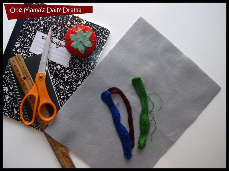 diy felt notebook supplies