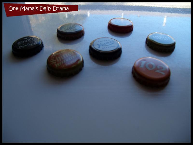 Shiner bottle cap magnets