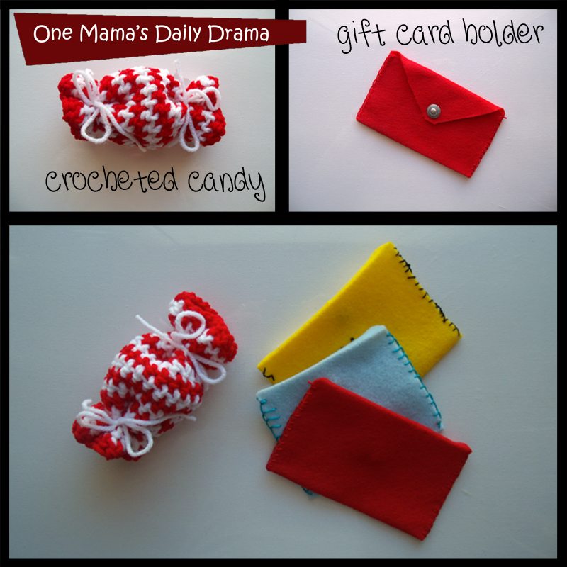 12 weeks of handmade Christmas gifts: DIY gift card holder and crocheted candy bag | One Mama's Daily Drama