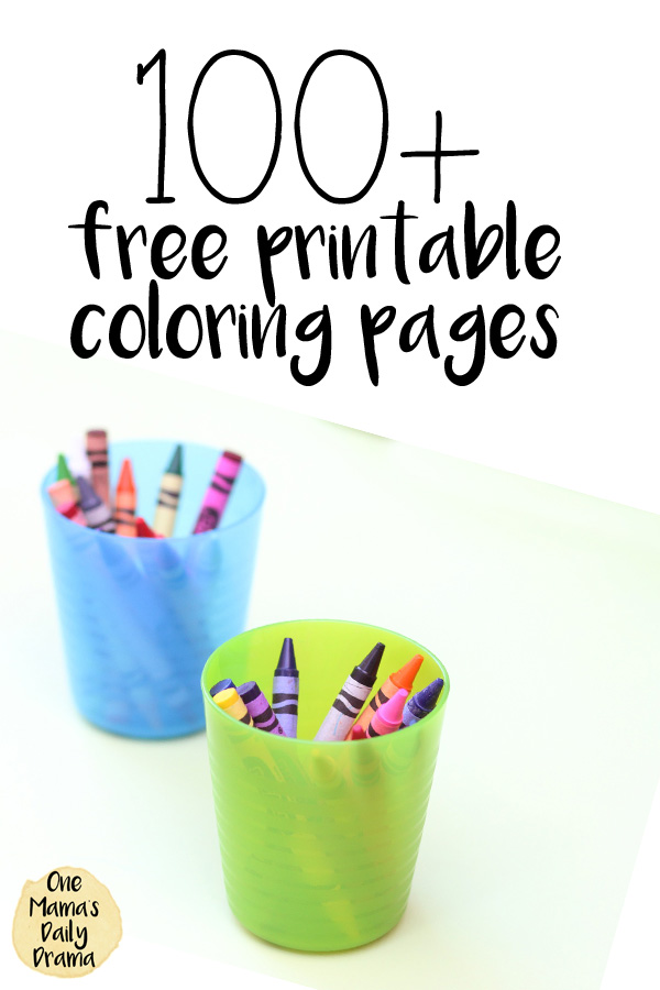100+ free printable coloring pages from One Mama's Daily Drama