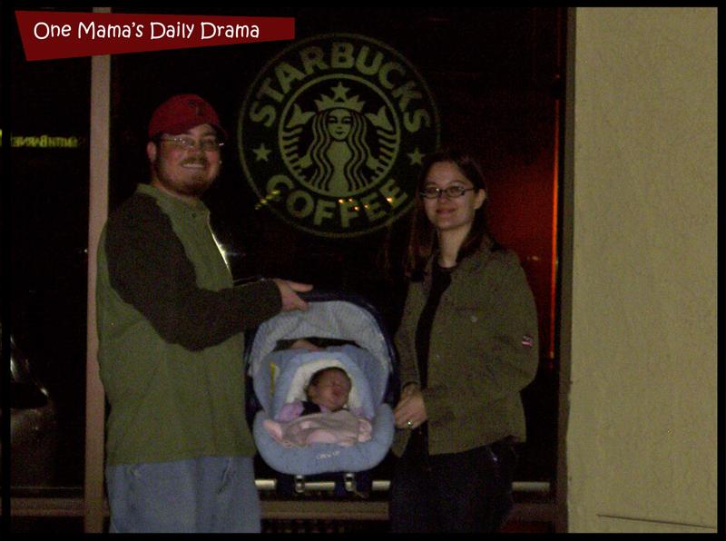 baby's first Starbucks coffee