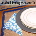 How to make crochet burlap placemats with cotton yarn