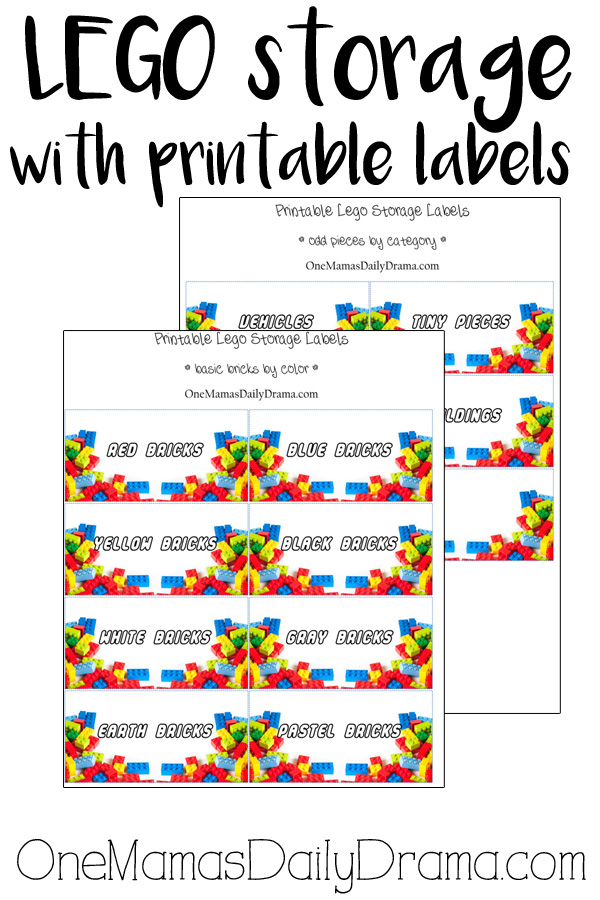 LEGO storage with printable labels | The best free LEGO printables for organizing bricks
