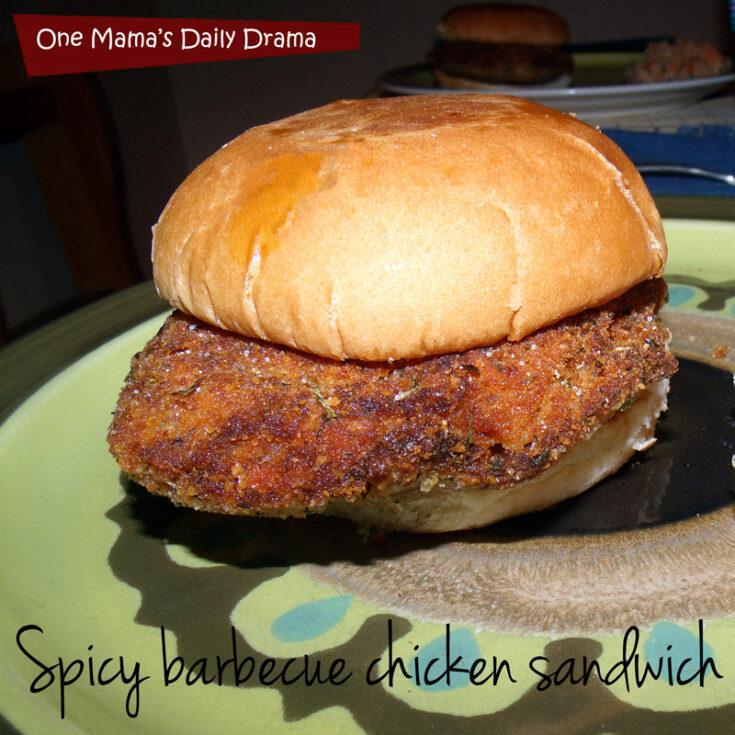 Spicy barbecue chicken sandwich recipe