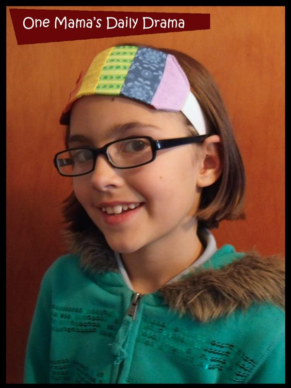 rainbow headband girl