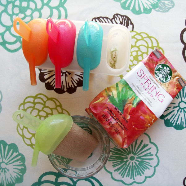 Coffee ice pops with Starbucks Spring Blend