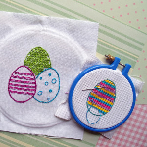 Fun and easy Easter egg embroidery kids craft activity | One Mama's Daily Drama