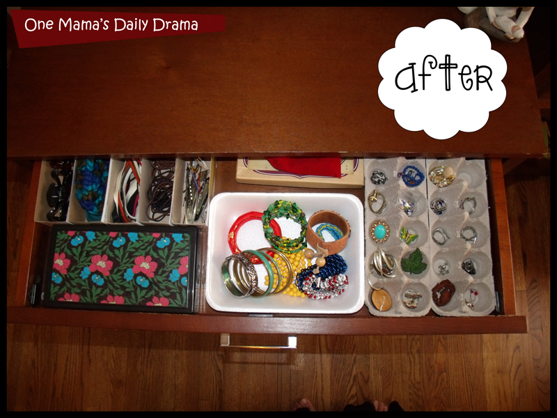 Recycled jewelry storage: after