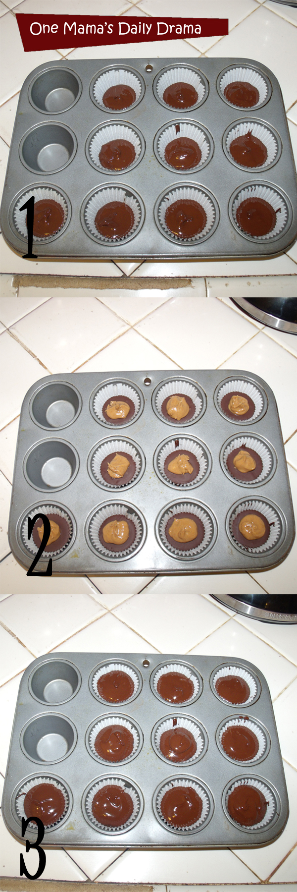 Easy homemade peanut butter cups in three steps