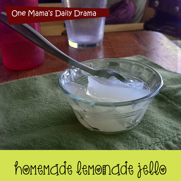 Lemonade jello | One Mama's Daily Drama
