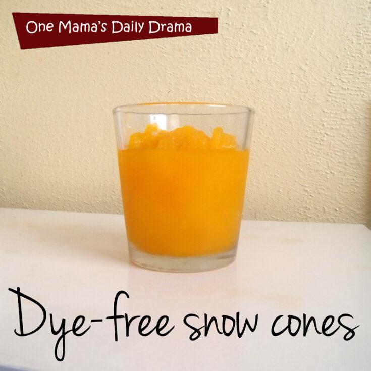 Dye-free snow cone recipe