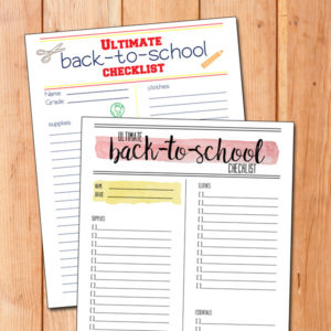 Printable ultimate back-to-school checklist | supplies, clothes, and essentials all in one place