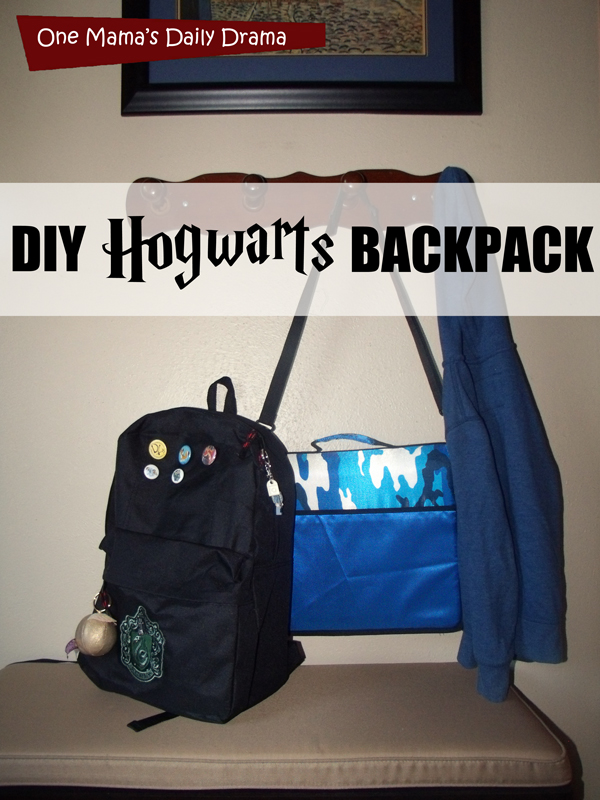 DIY Hogwarts backpack tutorial | One Mama's Daily Drama