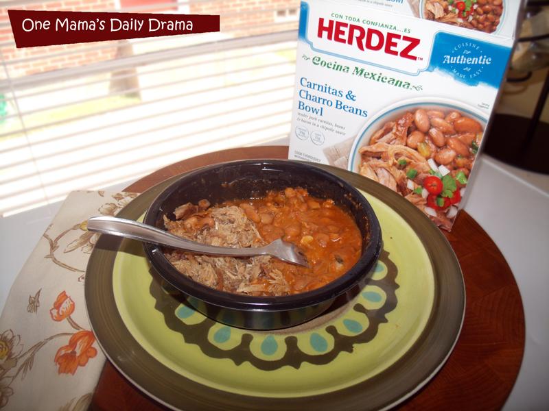 Herdez Cocina Mexicana Frozen Bowls: Carnitas and Charro Beans