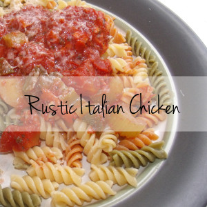 Rustic Italian chicken recipe | One Mama's Daily Drama --- This slow cooker recipe is perfect for a busy fall weeknight family meal. The hearty tomato sauce is packed with vegetables.
