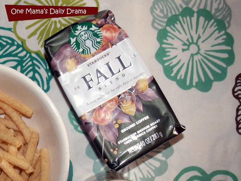 Starbucks Fall Blend coffee keeps me going during the witching hour!