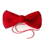 How to crochet a big red bow