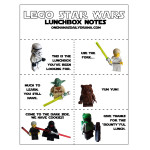 LEGO Star Wars lunch box notes