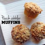 Peach cobbler muffins