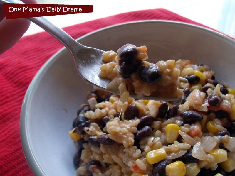 Southwestern Cheesy Rice Recipe | One Mama's Daily Drama