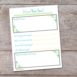 New Year's goal printable | printable goal planning for next year
