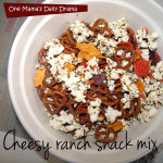 Cheesy ranch snack mix with Bernie's Farm cheddar crackers | One Mama's Daily Drama