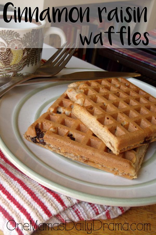 Cinnamon raisin waffles recipe