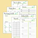 Printable planner pages + calendar