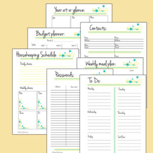 printable planner pages for family binder