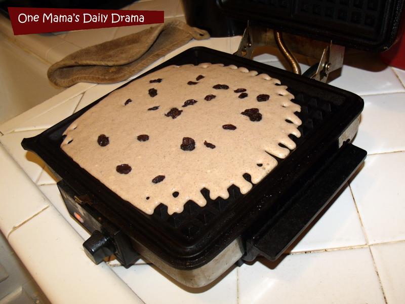 Cinnamon raisin waffle recipe: the perfect Saturday morning breakfast | One Mama's Daily Drama