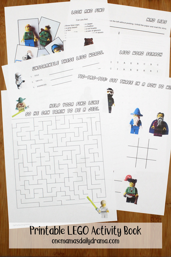 Printable LEGO Activity Book | LEGO Star Wars, Pirates, and More