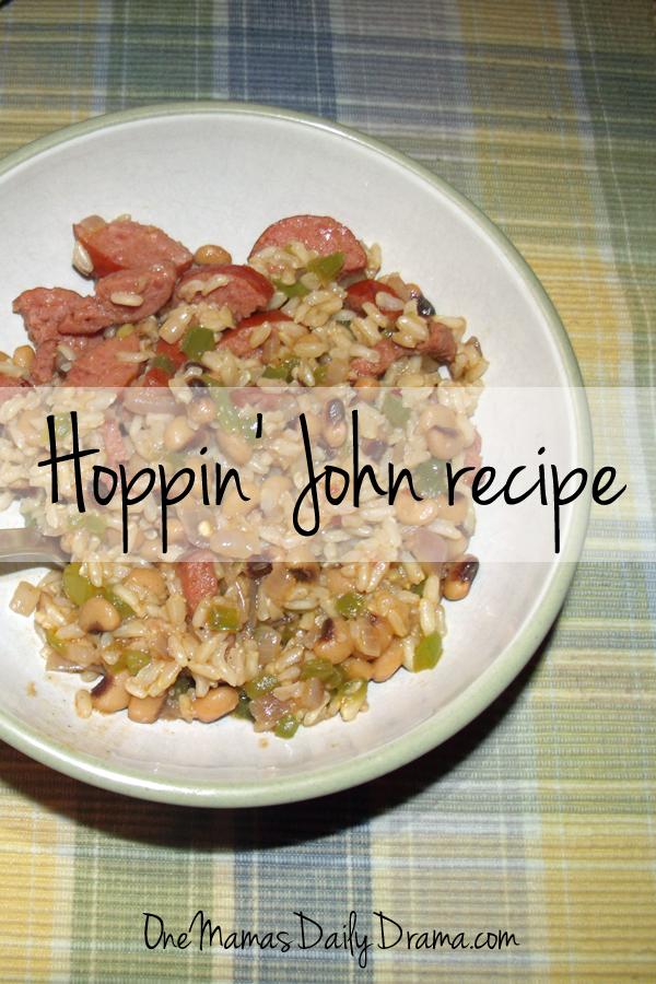 Hoppin john recipe: black-eyed peas, rice, bacon, and sausage   One Mama's Daily Drama