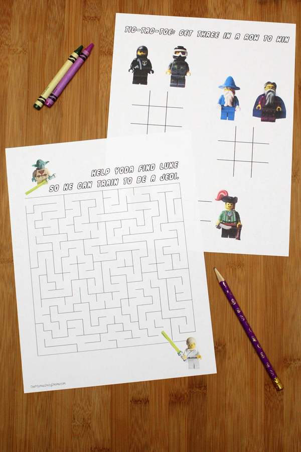 maze and tic-tac-toe activity sheets